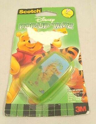 New 3m Vintage Scotch Disney Pop-up Tape Strip Dispenser Tigger Pooh Rare