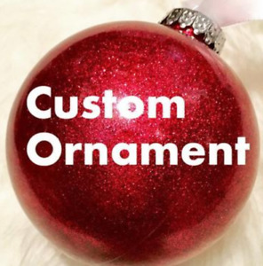 Personalized hand painted Ornaments