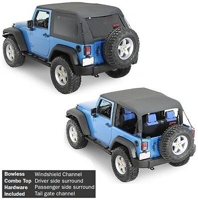 (Smittybilt All In One Bowless Soft Top & Hardware Kit 07-17 2dr Jeep Wrangler JK)