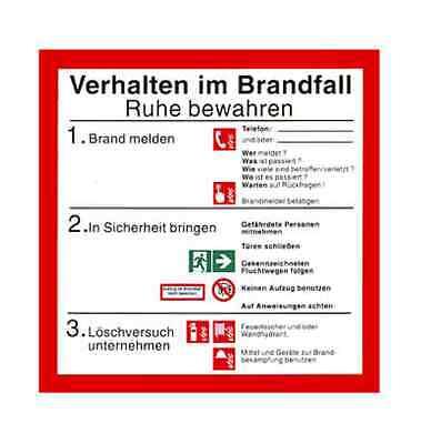 Verhalten in Brandfall Schild ISO neue Norm Brandschutzordnung
