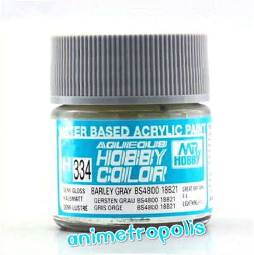Details about MR HOBBY GUNZE AQUEOUS COLOR ACRYLIC H334 BARLEY GRAY BS4800  MODEL PAINT 10ml