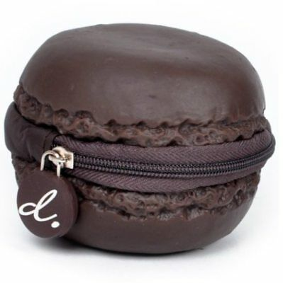 Scented Macaron Chocolate Scented Coin Purse - Brown - Coin Chocolate