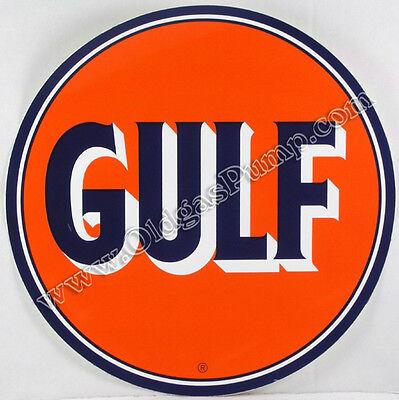 "GULF GASOLINE 12"" VINYL GAS & OIL PUMP DECAL DC-126"