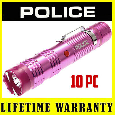 10 Police Pink M12 Metal Led Stun Gun - Wholesale Lot