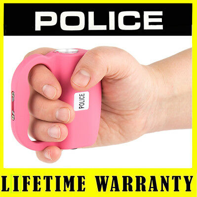 Police Pink 519 78 Bv Rechargeable Stun Gun With Led Flashlight Taser Case