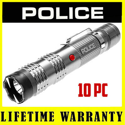 10 Police Metal M12 Self Defense Led Stun Gun - Wholesale Lot