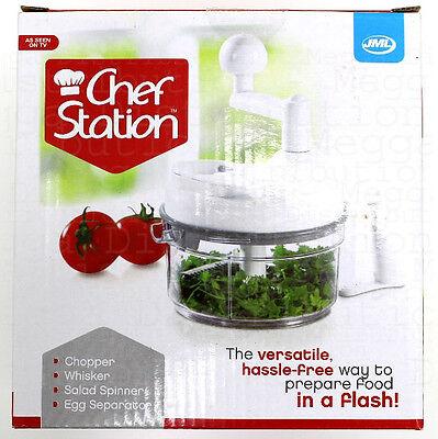 JML Mini 8 in 1 Chef Station- Chopper,Whisker,Salad Spinner,Egg Seperator-V03079
