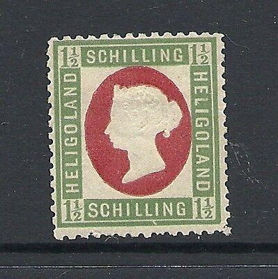 1867 Victoria SG9 1 1/2 sch Red & Green LMM HELIGOLAND CV £70