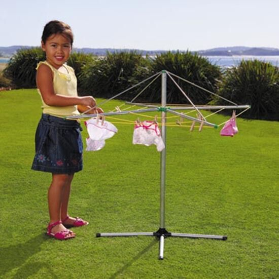 Orbit Rotating Metal Clothes Line with Pegs