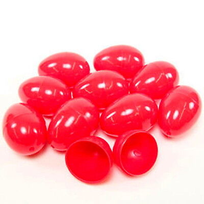 50 EMPTY RED PLASTIC EASTER VENDING EGGS 2.25 INCH, BEST PRICE, FASTEST SHIP!!