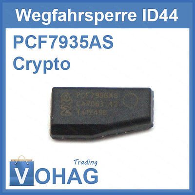 ID44 BMW Transponder Immobiliser PCF7935AS Phillips Crypto Chip AS ID 44 New