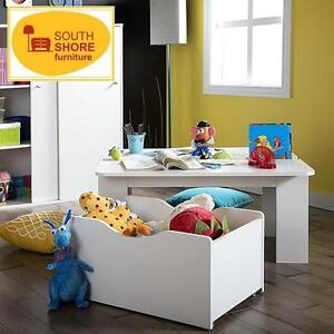 NEW SOUTH SHORE ACTIVITY TABLE - 114068320 - PURE WHITE ROLL OUT TOY BOX BEDROOM ROOM TABLES DESK DESKS STORAGE BOXES