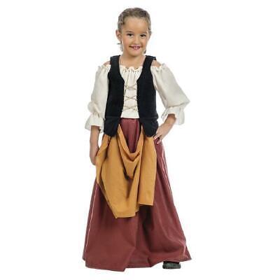 Mittelalterliches Bauern Mädchen Kostüm Magd - Bauern Kostüm Kinder