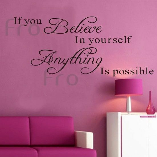 Believe Quotes for Wall Decals eBay