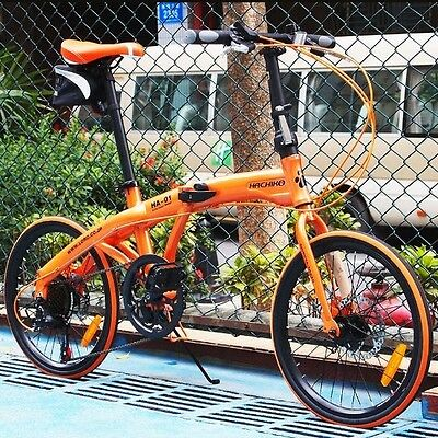 "20"" aluminium alloy frame folding bike road Bicycle shimano 7 speed (Disc-brake)"