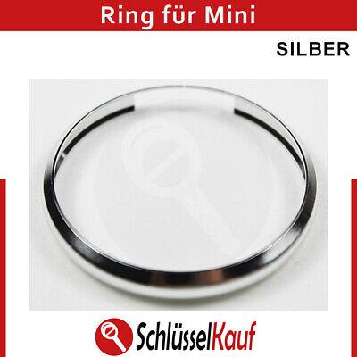Autoschlüssel Schlüssel Ring Silber Ersatz passend für MINI Cooper Clubman One (Mini Cooper Ersatzschlüssel)