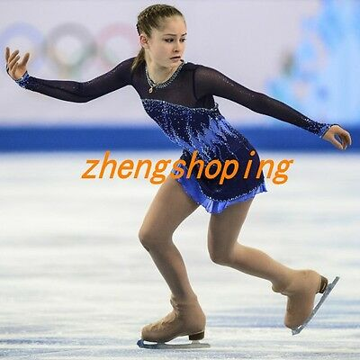 Ice Skating Dress Competition Burgendy Figure Skating Dress Dance Costume 8839