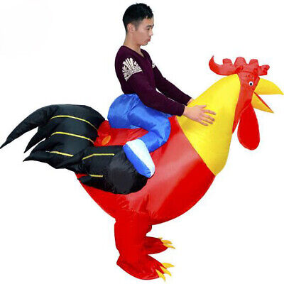 Inflatable Chicken Costume (Inflatable Cock Chicken Costume Halloween Party Clothing Adult)