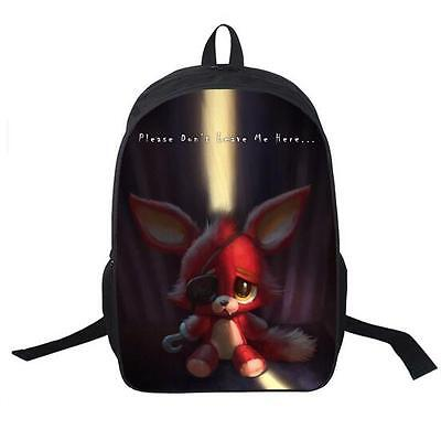New Five Nights At Freddys Freddy Backpack Children Foxy Fnaf Shoulder Bag