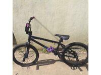 Mongoose Subject black and purple BMX bike
