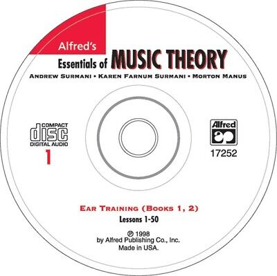 Alfred's Essentials of Music Theory: Ear Training CD 1 (for Books 1 & 2) SEALED!