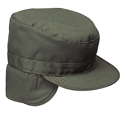 US BDU GI Army Military Mütze Cap with Ear flaps OD Green oliv green Military Cap Olive
