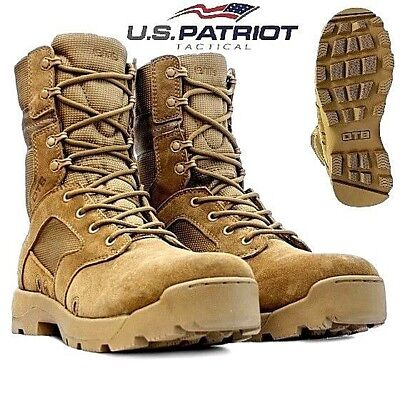 OTB Mens Army Desert Leather Combat Patrol Boots Cadet Military Work Security Sz Desert Combat Boots