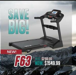 Sole F63 Treadmill. Compare at up to $2149.99. Just 1549.88 ONE DAY ONLY! Some Limitations apply.