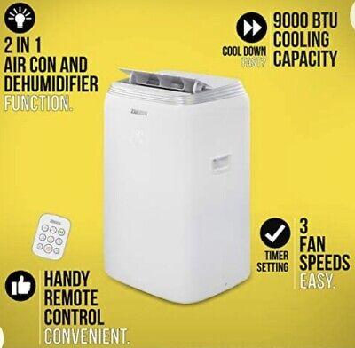 Zanussi ZPAC9002 Oscillating 16m² Room 2 in 1 Air Conditioner/Dehumidifier White