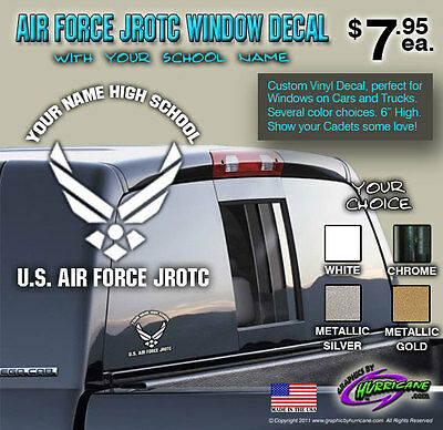 U.S. Air Force JROTC Custom Decal with YOUR School Name
