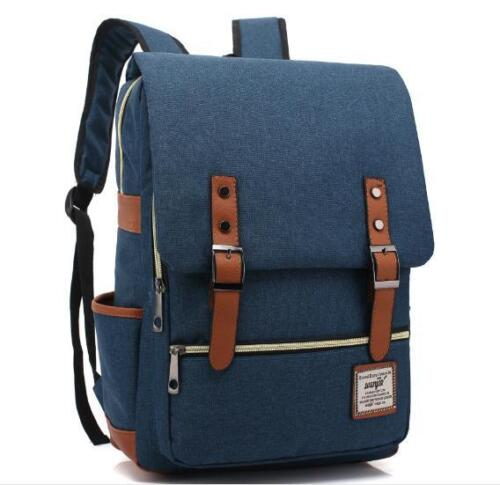 Canvas Backpack Fashion Men School Laptop Travel Rucksack Satchel Shoulder Bag