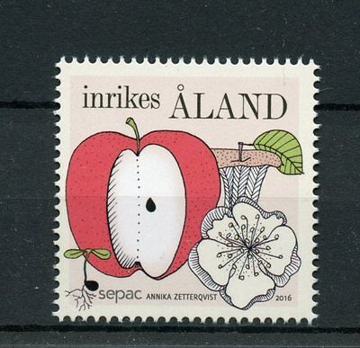 ALAND 2016 MNH SEASONS SEPAC 1V SET APPLES FRUITS FRUIT STAMPS