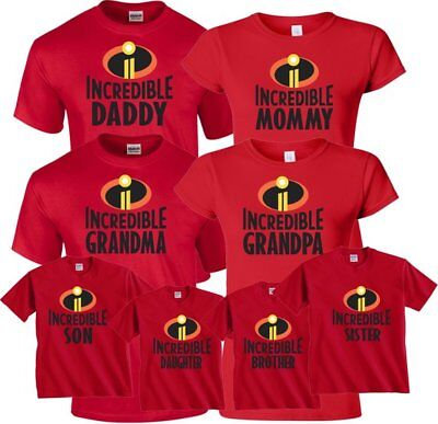 Incredible Family Halloween Christmas matching funny cute T-Shirts  (Pink's Family Halloween)