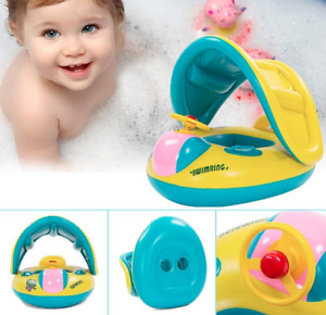 Summer Sea kids floater/boat with sun shade