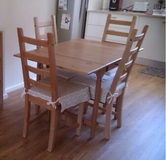 Ikea Dinning Table with 4 Chairs Lockleys West Torrens Area Preview