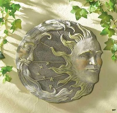 Celestial Sun, Moon and Stars Wall Plaque Indoor Outdoor Decor