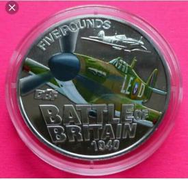 2010 Guernsey Battle of Britain £5 coin