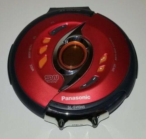 Panasonic Shockwave SL-SW945 Anti-Skip Portable CD Player Red