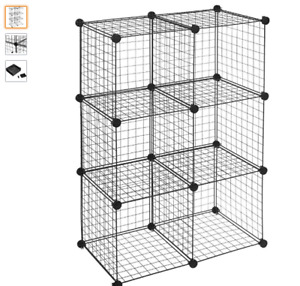 BRAND NEW - 6 Cube Wire Storage Shelves with Connectors