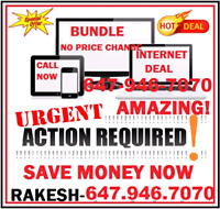 FAST UNLIMITED INTERNET + BASIC CABLE TV + PHONE UNDER $85 TEXT