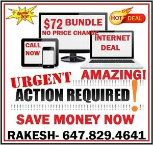 INTERNET UNLIMITED, HD CABLE TV 140 CHANNELS 4K PVR, PHONE, $72 BUNDLE, INTERNET DEAL, CHEAP INTERNET , CABLE TV , FAST