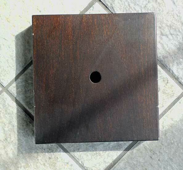 SQUARE Wooden LAMP BASE - NEW