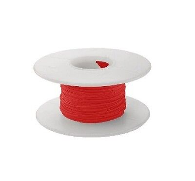 30 Awg Kynar Wire Wrap Ul1423 Solid Wiremod Type 100 Foot Spools Red New