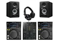 Pioneer xdj700 djm350 speaker's and professional headphones