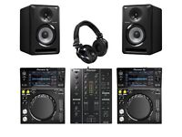 Brand new boxed Xdj700 djm350 speakers and professional headphones