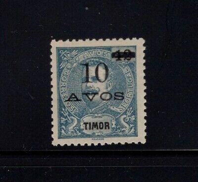 Timor 1905 10a on 12a Overprint King Carlos MH Sc 105