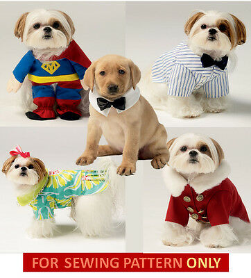 RETIRED SEWING PATTERN! MAKE DOG CLOTHES! SUPERMAN~DRESS~COAT~TIE! SMALL~XLARGE