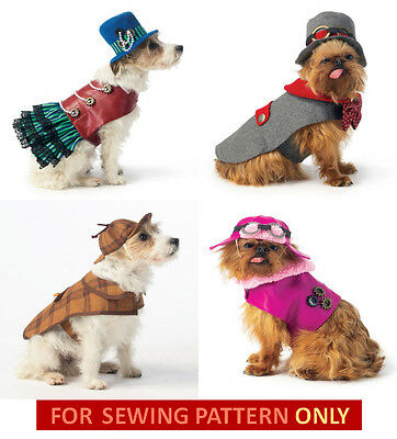 SEWING PATTERN! MAKE SMALL-EXTRA LARGE DOG CLOTHES! COSTUMES~STEAMPUNK~SHERLOCK