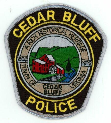 CEDAR BLUFF POLICE VIRGINIA VA NEW SHOULDER PATCH SHERIFF