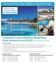 Fly From Hamilton with Celebrity Cruises!